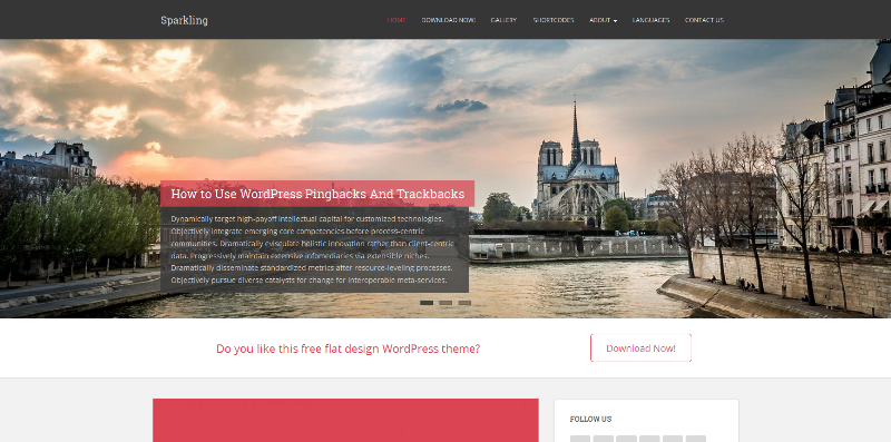FireShot Screen Capture #003 - 'Sparkling - Free flat design WordPress theme developed using Bootstrap 3 and is well suited for blogs, portfolio, design, photography and other creative websites' - colorlib_com_sparkli