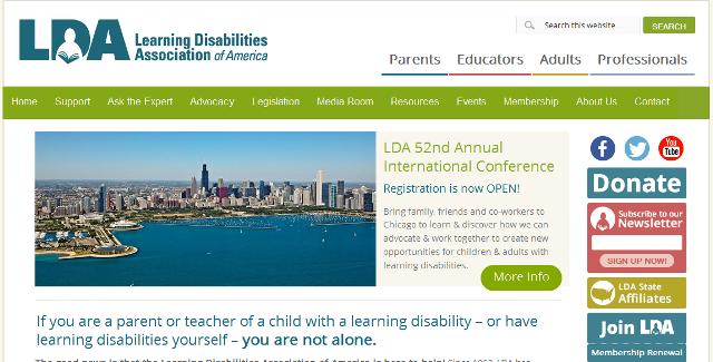 FireShot Screen Capture #006 - 'Learning Disabilities Association of America – Learning Disabilities Association of America' - ldaamerica_org