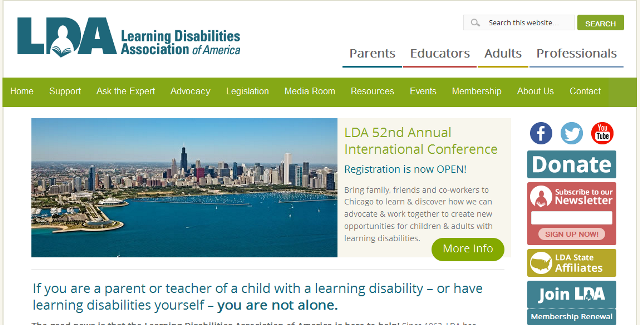 FireShot Screen Capture #006 - 'Learning Disabilities Association of America – Learning Disabilities Association of America' - ldaamerica_org